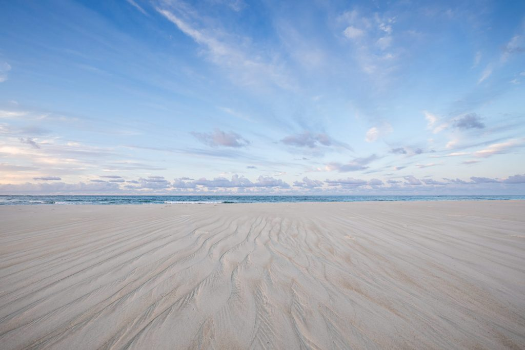 Flinders Beach Wall Art Landscape Photography by Julie Sisco Photography North Stradbroke Island Straddie sand and sky